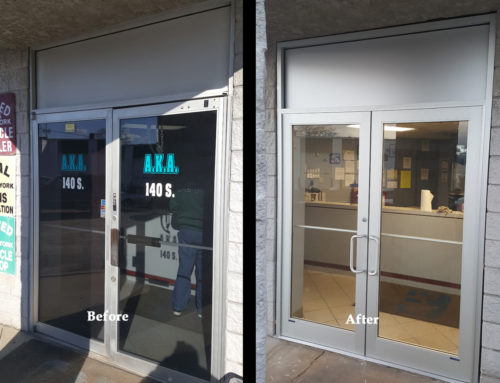Glass Door Installation Before and After