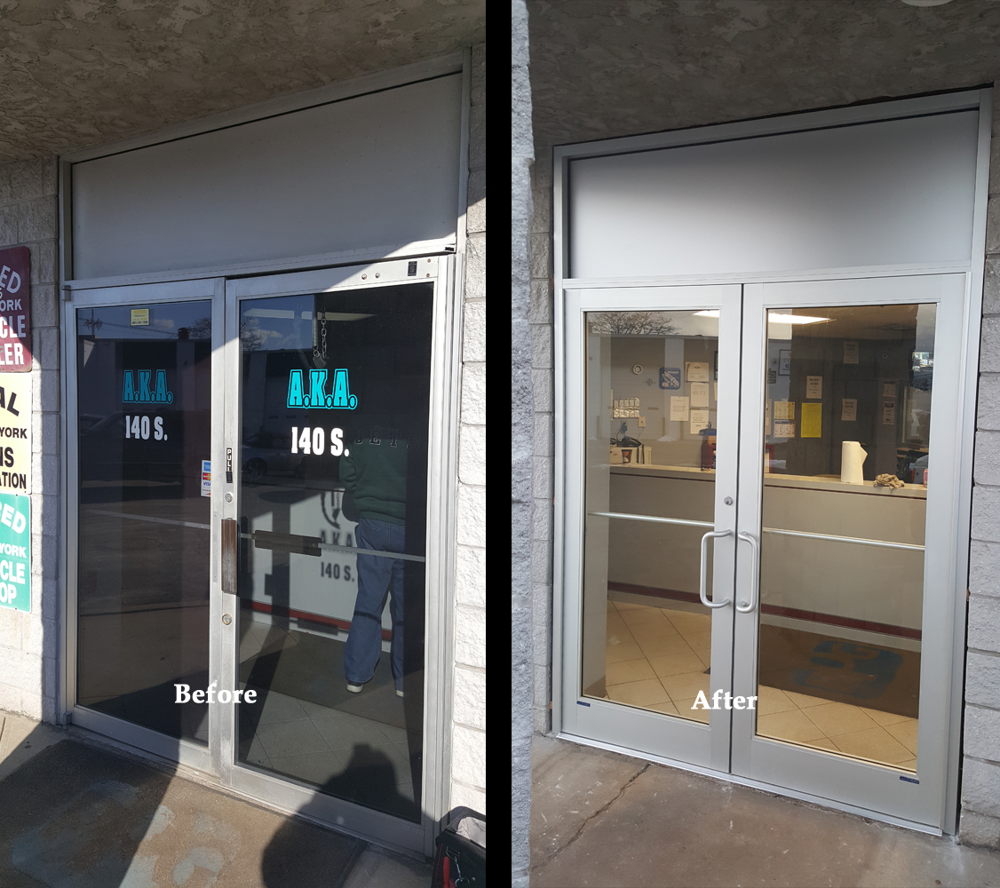 Glass door ups store - Glass Door Installation Before And After