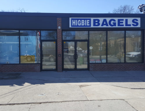 Higbie Bagels Door Installation