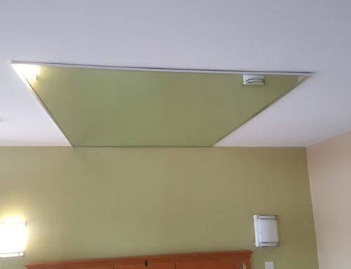 Ceiling Mirror Installation